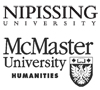 Nipissing and McMaster Humanities logos